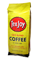 TexJoy Café Blend Coffee TexJoy, coffee, cafe, café, roast, bold, rich, aroma, arabica, pure, founder's, choice, mild, robust